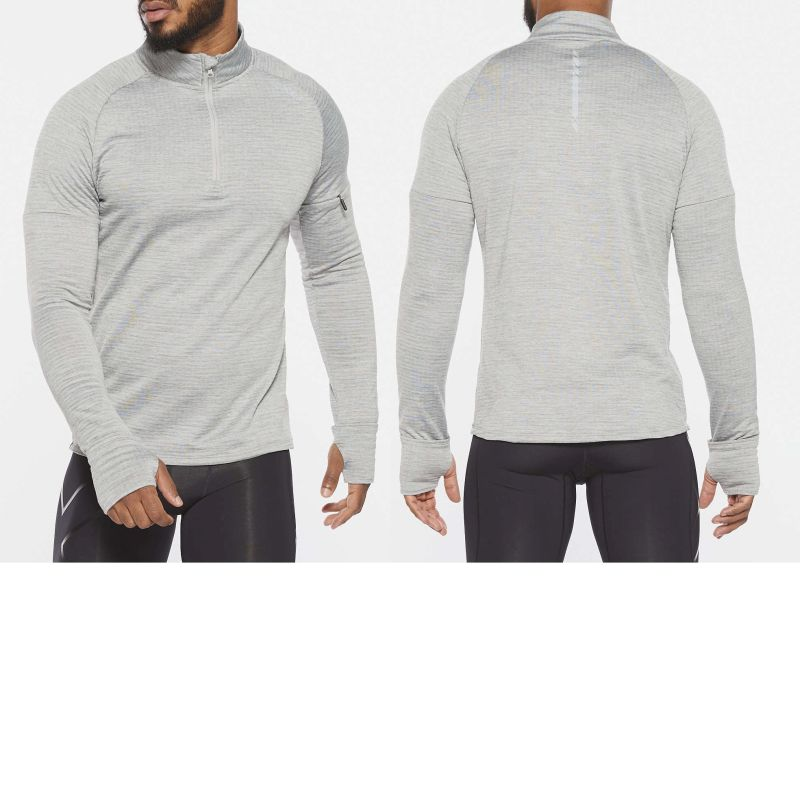 Мужской гольф PURSUIT Thermal 1/4 Zip 2XU MR6231aGreyMarleSilverReflective