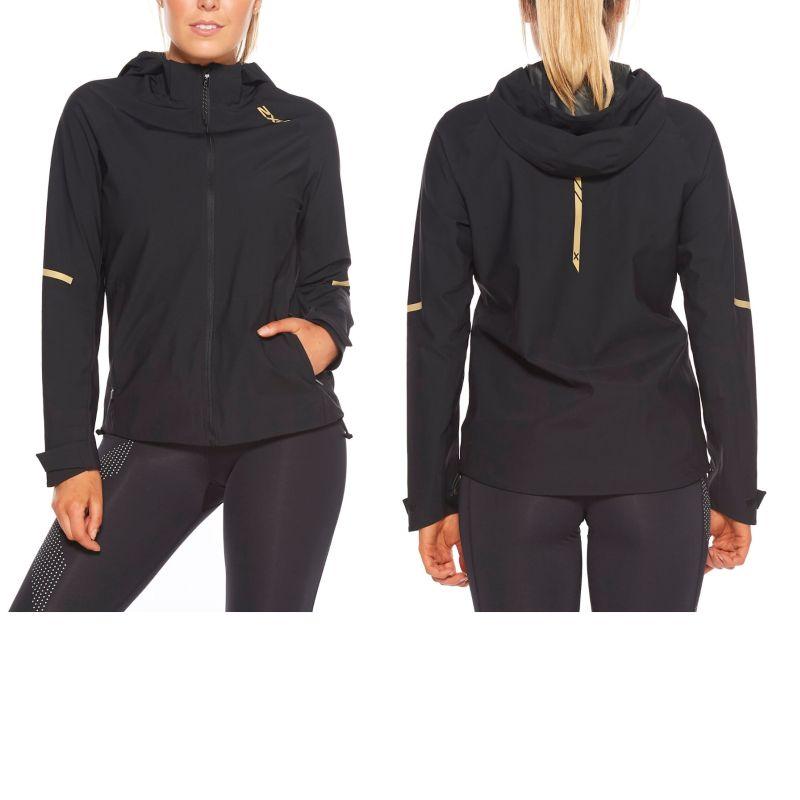 Женская куртка GHST WP 2XU WR6205aBlackGoldReflective