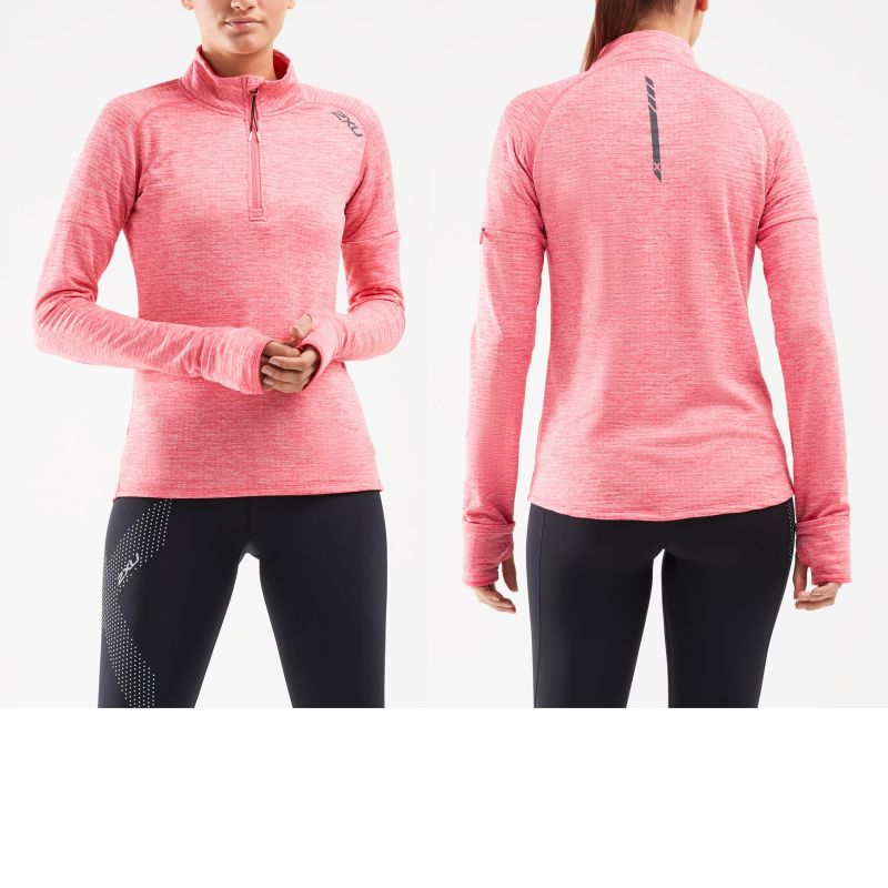Женская толстовка PURSUIT Thermal1/4 Zip 2XU WR6233aPinkLiftSilverReflective