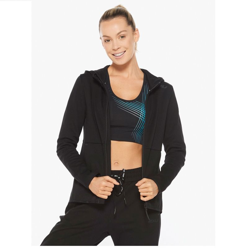 Женская толстовка COMMUTE Zip Up Hoodie 2XU WR6285aBlack