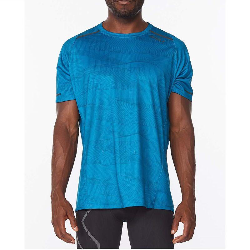 Мужская футболка Light Speed Tee 2XU MR6502aLinearAquamarineBlackReflect