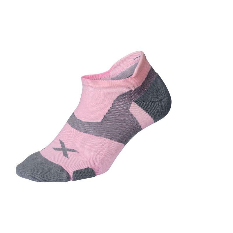 Компрессионные носки Elite Vectr Cushion No Show 2XU UA5043eDustyPinkGrey