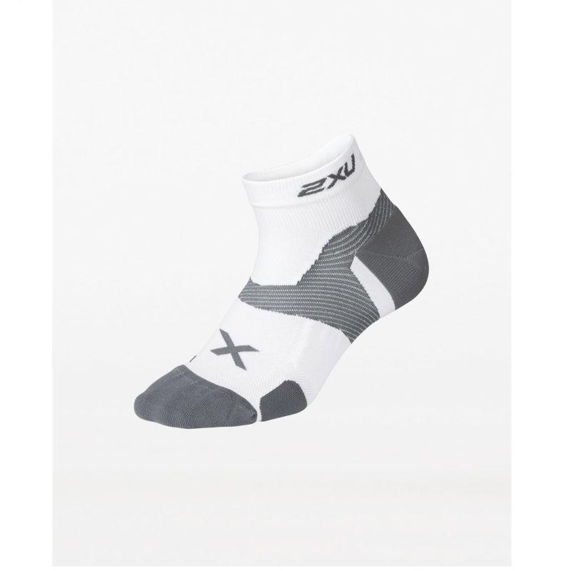 Компрессионные носки Elite Vectr Cushion 1/4 2XU UA5048eWhiteGrey